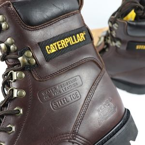 Vintage New Caterpillar Mens 9.5 W Steel Toe Boots NWT